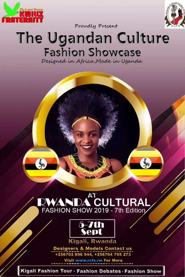 The Ugandan Culture Fashion Showcase is a special presentation of the Ugandan Authentic Designs by the Ugandan Designers at the Rwanda Cultural Fashion Show.