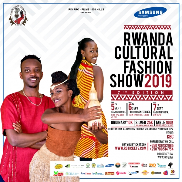 Rwanda Cultural Fashion Show is back, 7th Edition, September 5-7